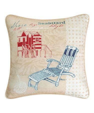 This Cabana Beach 'Seaboard' Pillow is perfect! #zulilyfinds