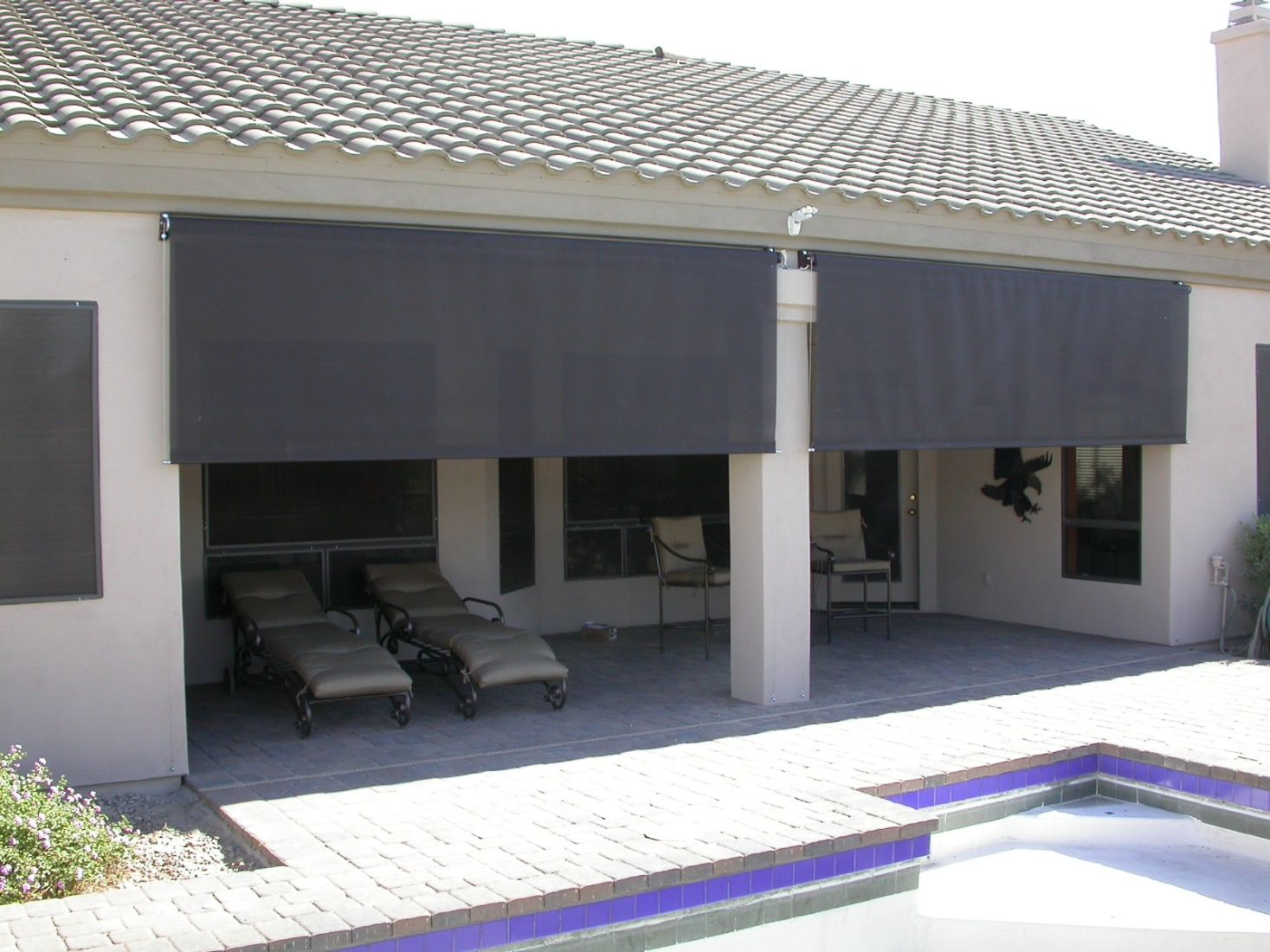 Roll Down Shades Patio Shade Outdoor