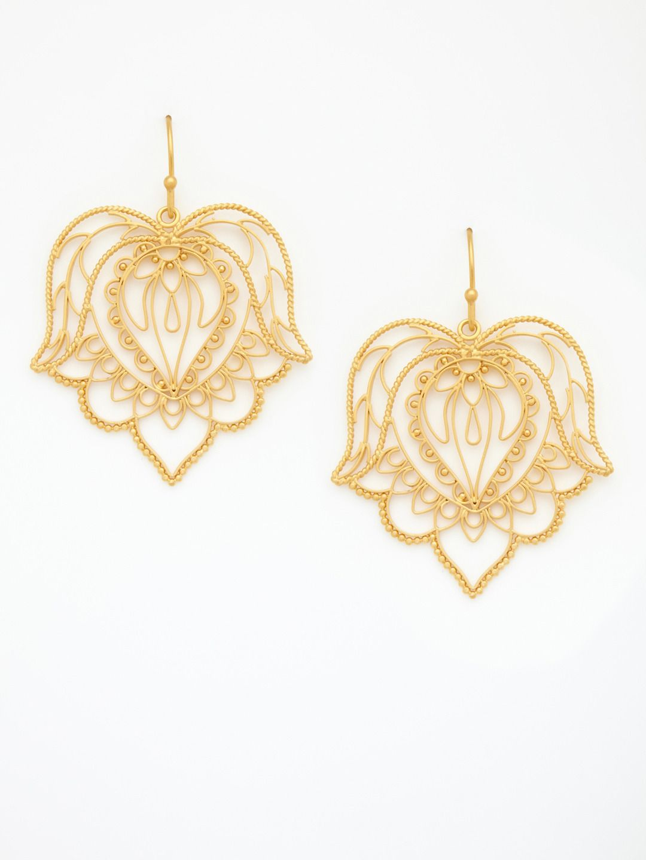 Dream Mullick's Filigree Floral Drop Earrings $108