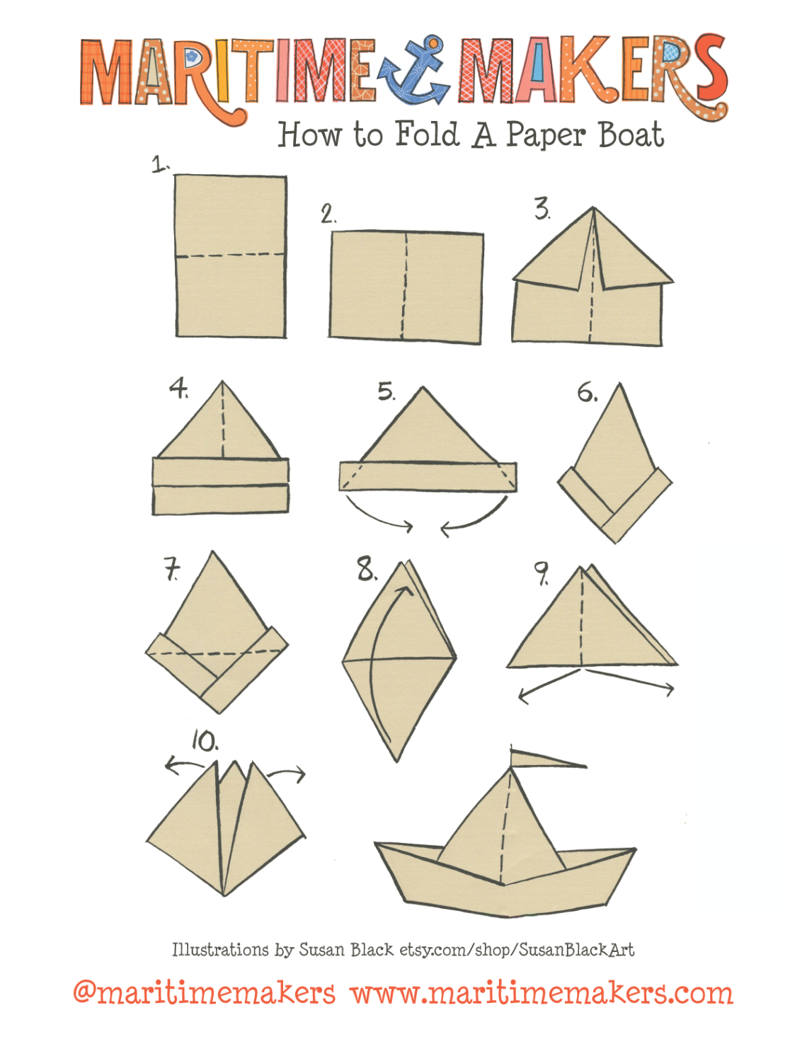 How To Make Paper Hats Sailors Hat Origami Round Sailor