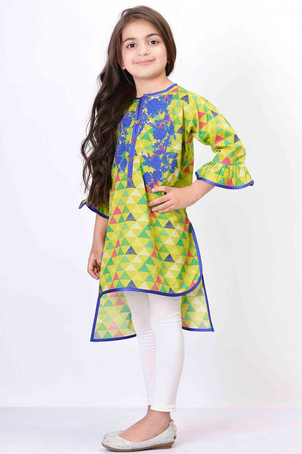 Khaadi – Embroidered Kurta Girls Kids