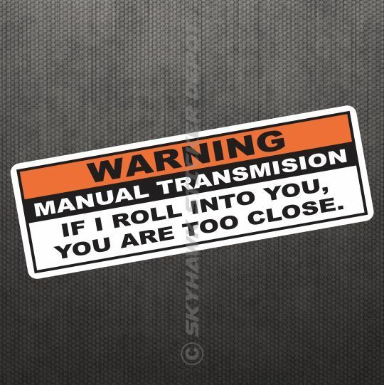Warning Funny Vinyl Decal Bumper Sticker JDM Car Manual - Window stickers for cars