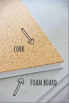 Chalkboard with Cork Board Frame