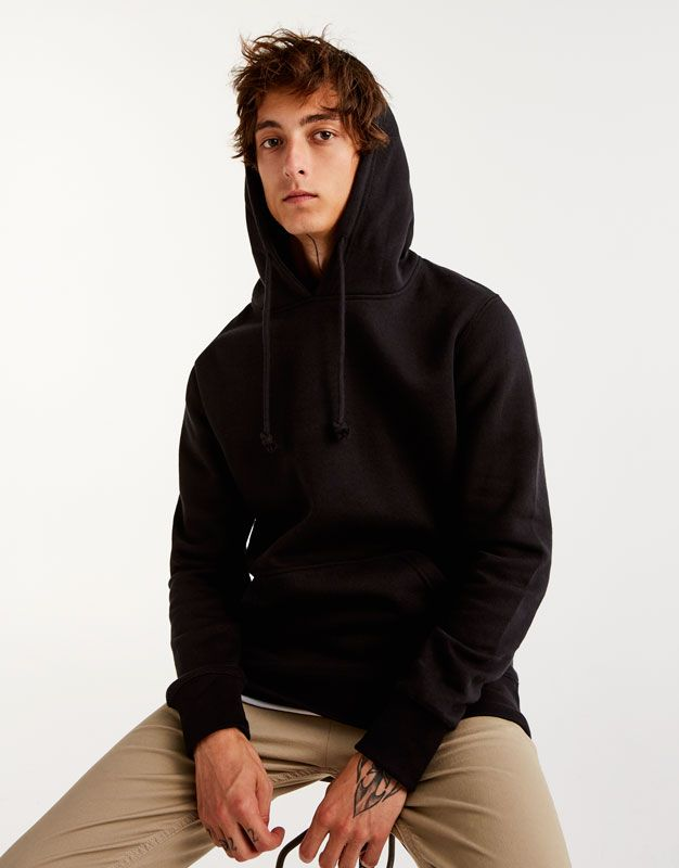 Pull And Bear Homme : homme, Pull&Bear, Homme, Vêtements, Sweat, Basic, Capuche, Poche, Kangourou, 09593513-I2017, Sweatshirts,, Fashion,, Style