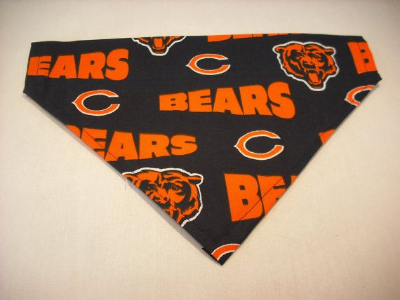 chicago bears over the collar dog bandana scarf by debsattic2   6 50