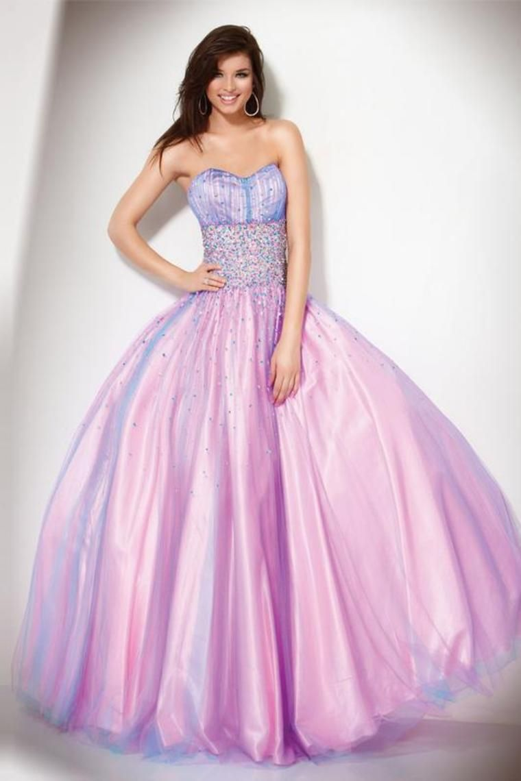 Shop 2012 Ball Gown Strapless Floor Length Sleeveless Tulle Ruffles ...