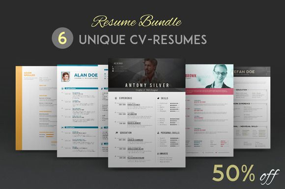 Check out Resume Bundle by sz81 on Creative Market inspiration - mock resume