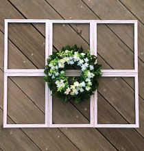 DIY Farmhouse Window Décor on a Budget #dollartreecrafts