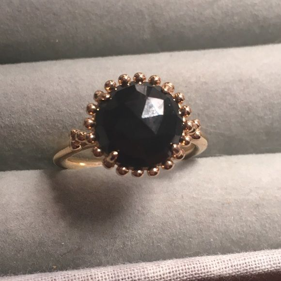 6ab495263 Pandora Shining Star ring Pandora's Shining Star ring. Genuine 14k Gold,  with black spinel. Size 58, extremely gently used. Gorgeous stacked with  other ...