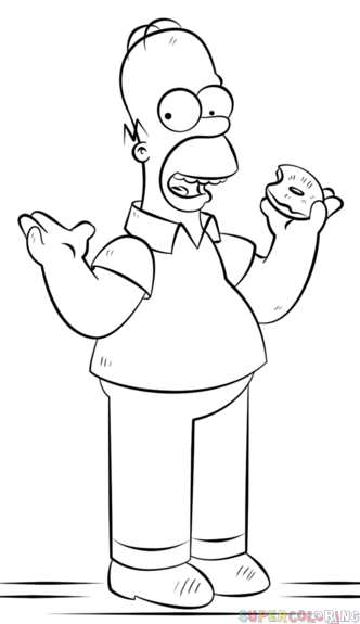 How To Draw Homer Simpson Step By Step Drawing Tutorials How To Draw Homer Simpson Homer Simpson Drawing Simpsons Drawings