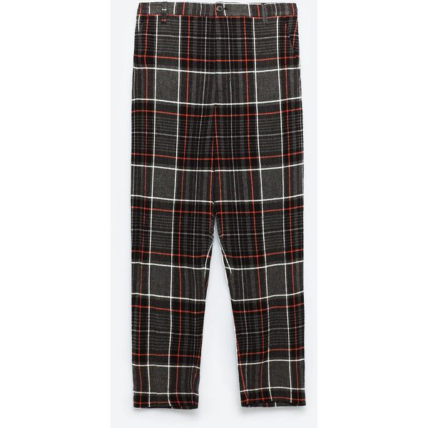 Check trousers view all trousers woman zara indonesia 50 check trousers view all trousers woman zara indonesia 50 stopboris Choice Image