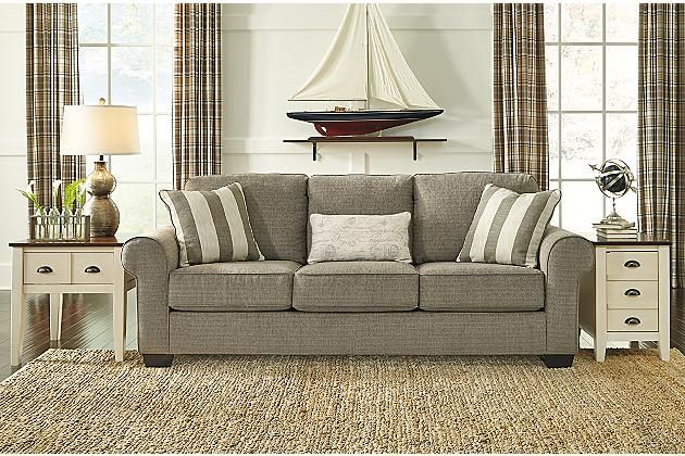 sleeper jcpenney milari ashley p signature queen by design sofa