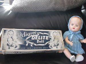 Vintage Pedigree delite doll with box