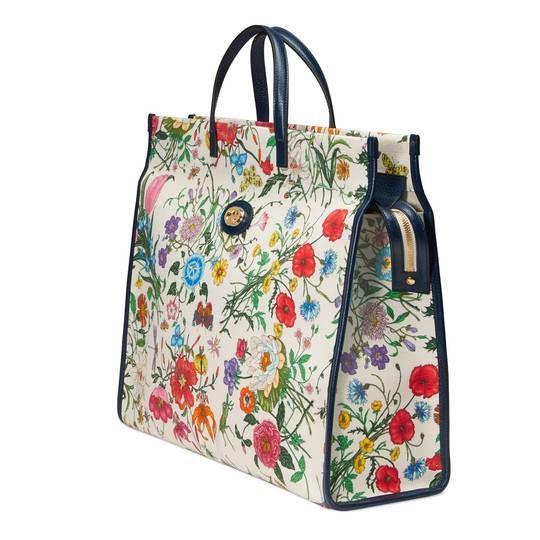 da6dde8caa8 Medium Flora tote bag in Flora print canvas