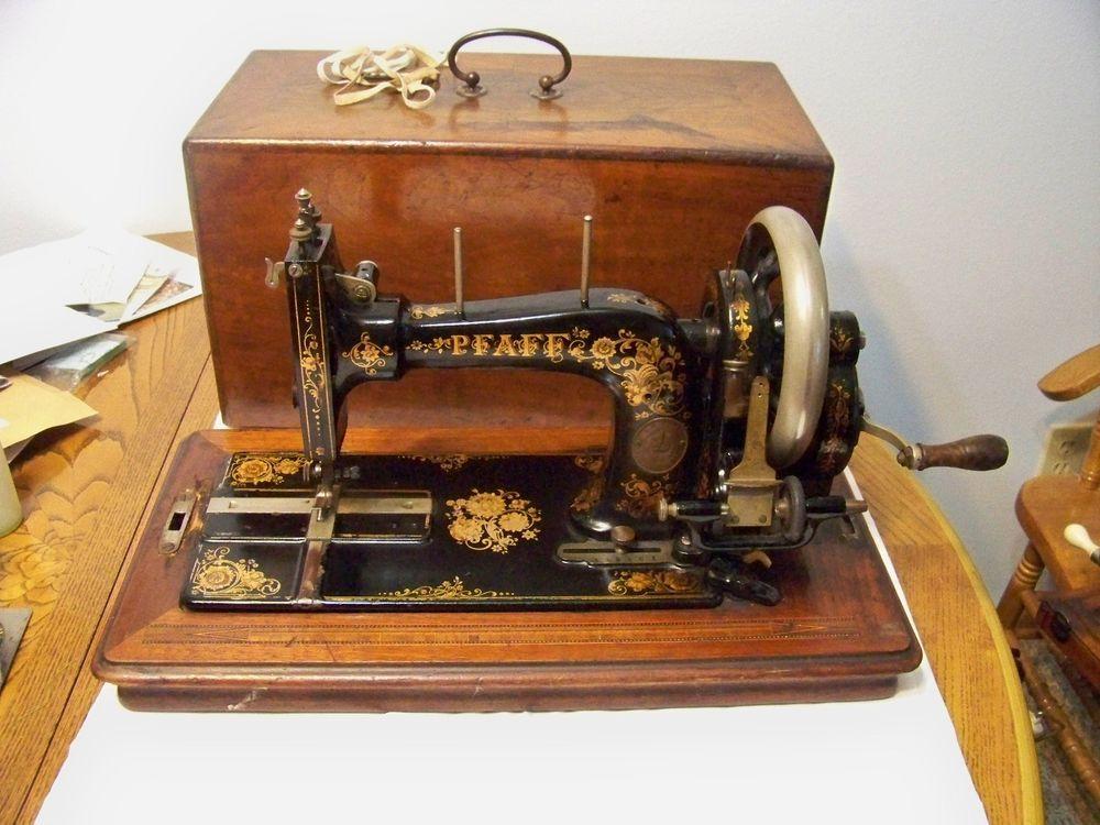 Antique 40 Pfaff B Hand Crank Sewing Machine Vintage Pfaff Extraordinary Vintage Hand Crank Sewing Machine