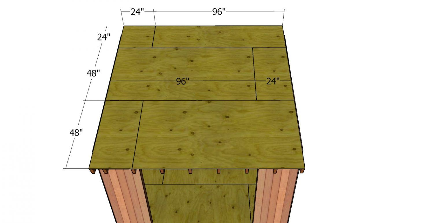 8x10 lean to shed roof plans howtospecialist how to