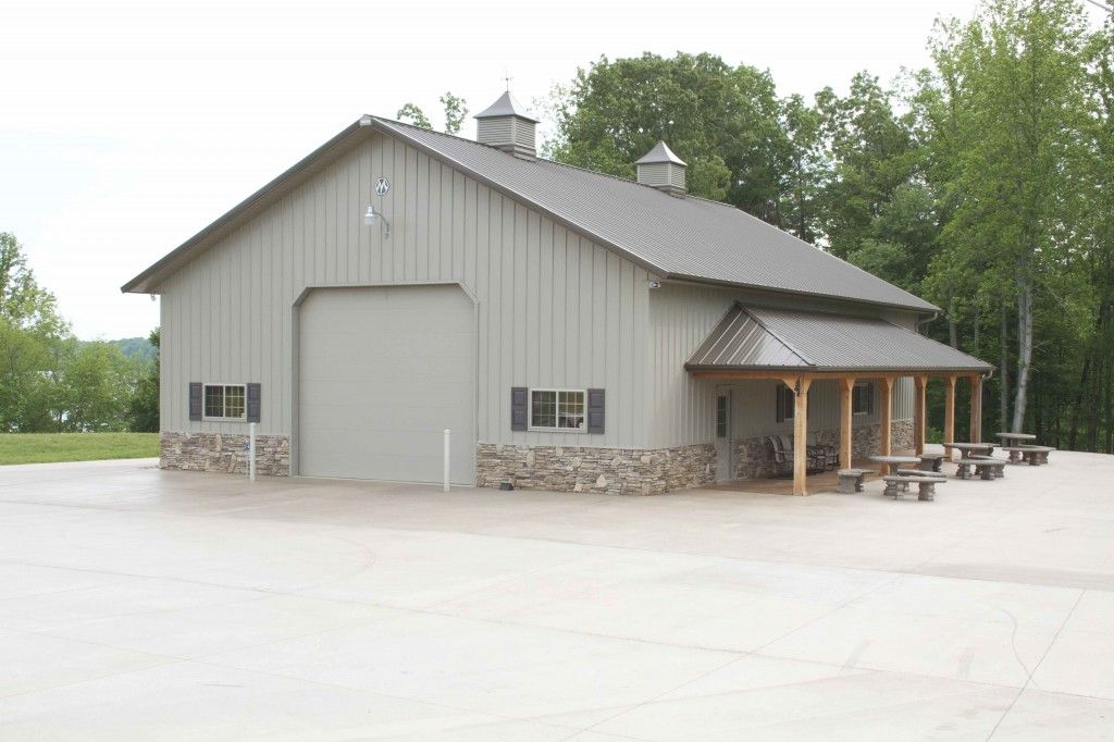 Morton steel buildings with house inside joy studio for Morton garages
