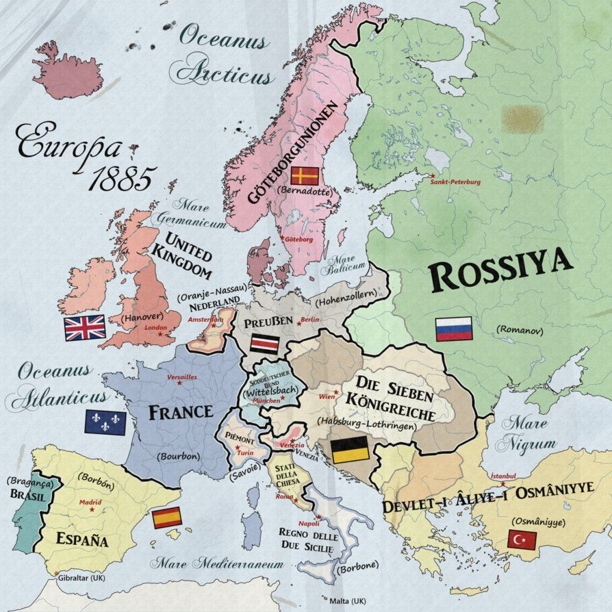 map of europe 1885 Pin on maps