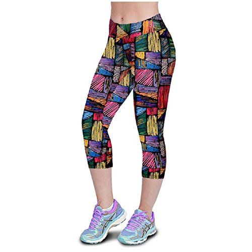 Tonsee Fashion High Waist Fitness Yoga Sport Pants Printed Stretch Cropped Leggings M27 A *** Want to know more, click on the image.