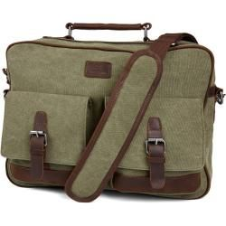 Photo of Simon Grüne & Braune Messenger Tasche Salt & Hide
