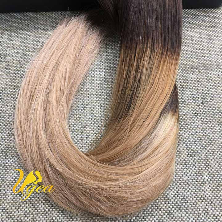 Balayage Ombre Brownlight Golden Brown Remy Clip In Human Hair