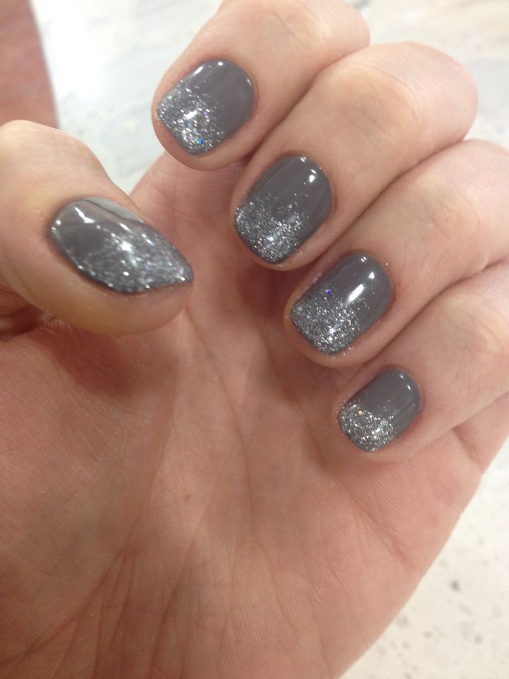 Grey with silver sparkles | Shellac