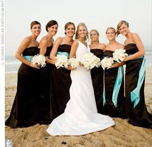 Black And Turquoise Wedding Colors Just Need To Add Alittle Splash Of Color The Flowers Would Be A Great Theme For Any Location