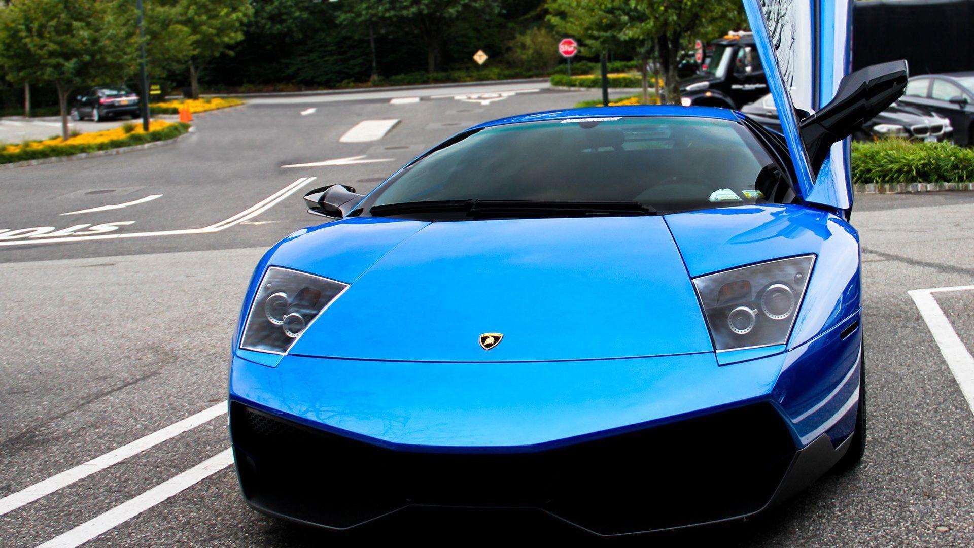 Blue Lamborghini Car Wallpapers