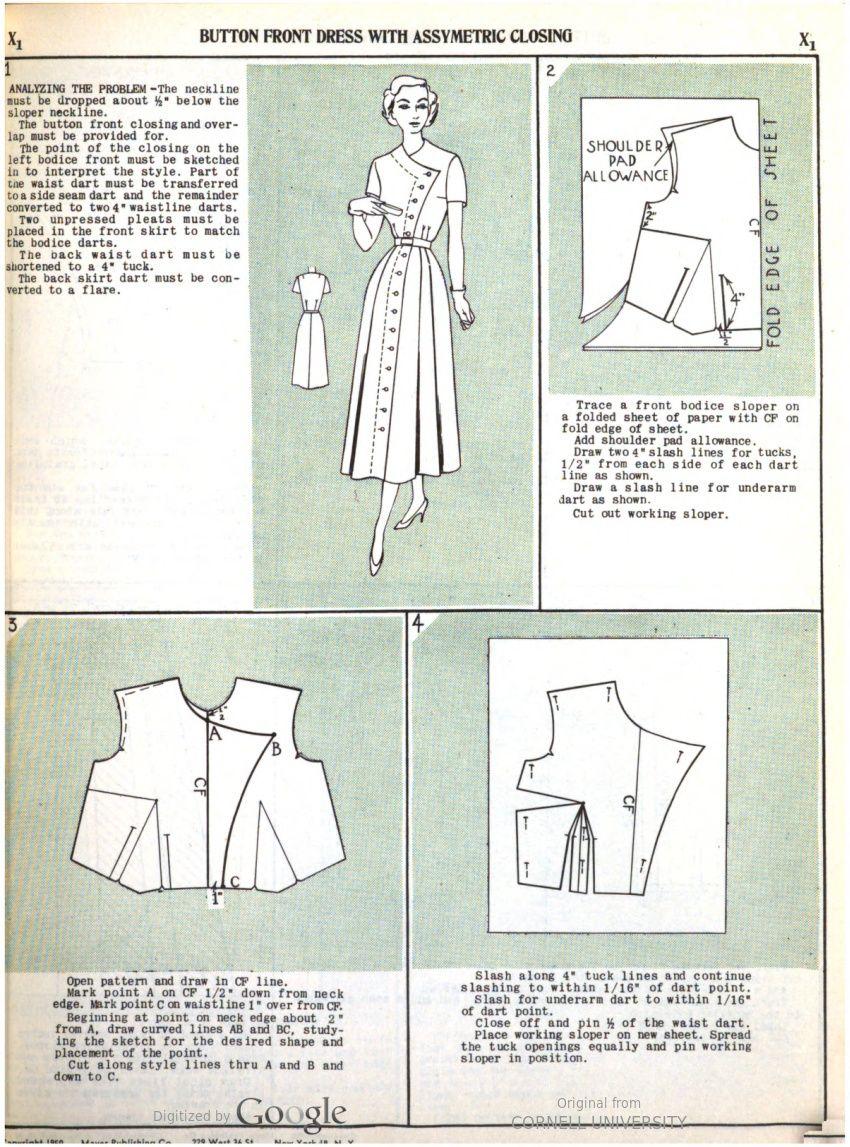 dress 1950-1 | Schnitte | Pinterest | Femenino, Patrones y Costura
