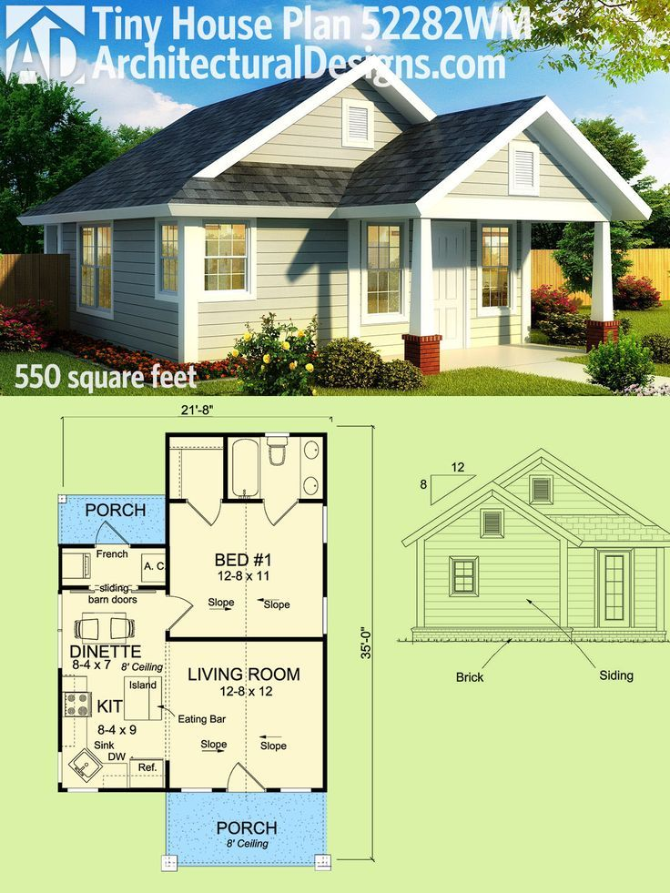 Nice Architectural Designs Tiny House Plan 52282WM Gives You 550 Sq Ft Of Living