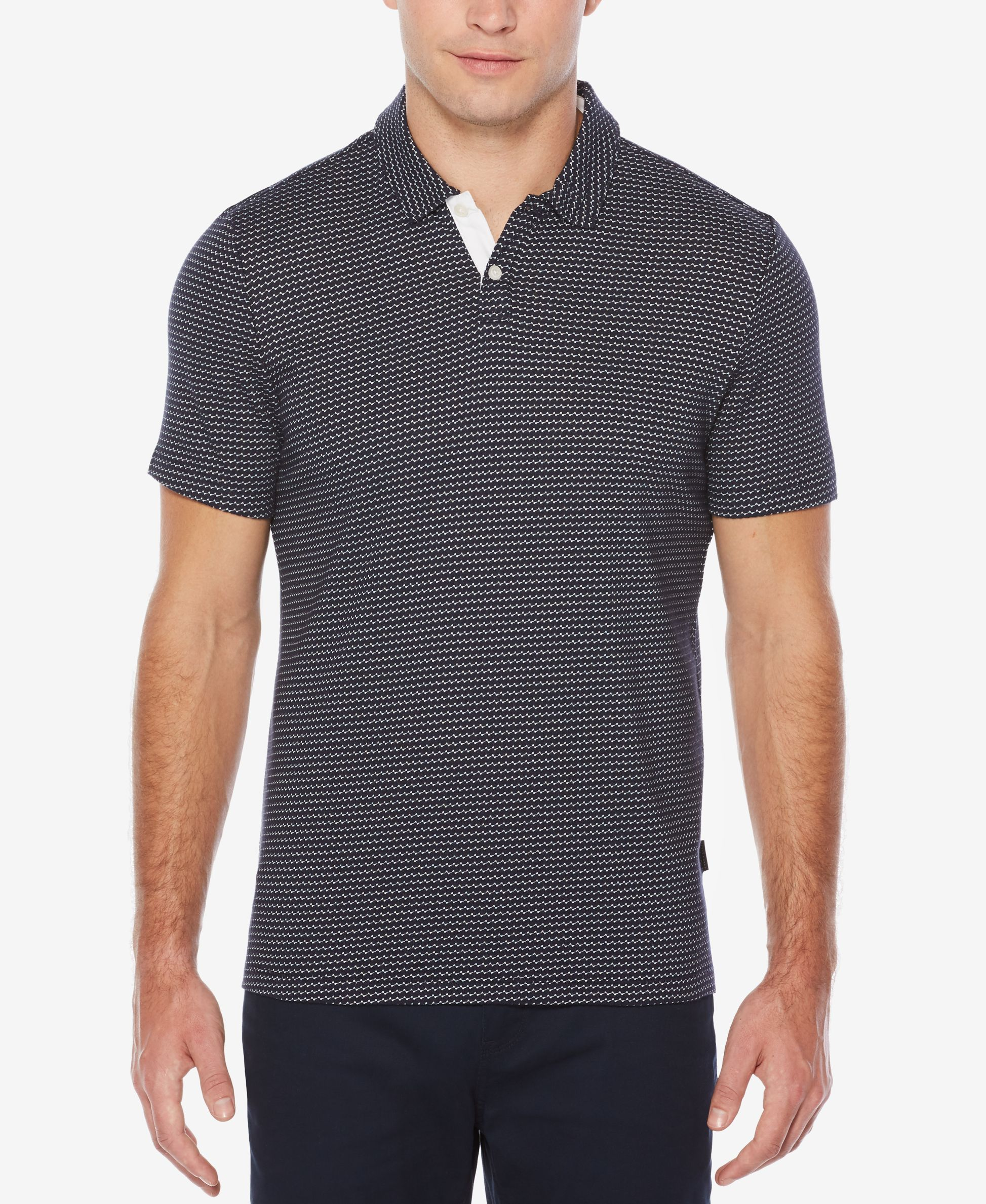 b7510416 Perry Ellis Men's Classic-Fit Geo Jacquard Polo | Products