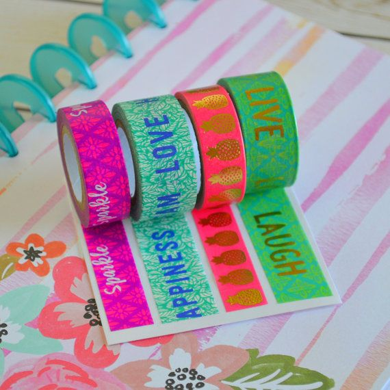 Washi Tape Samples for Filofax, Kikki K, Erin Condren, Happy Planner and Kate Spade planner