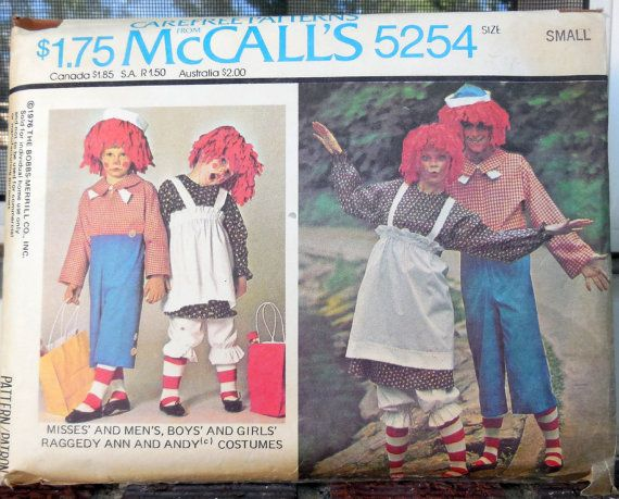 McCall\'s 5254 Adult Raggedy Ann & Andy Costumes by Clutterina ...