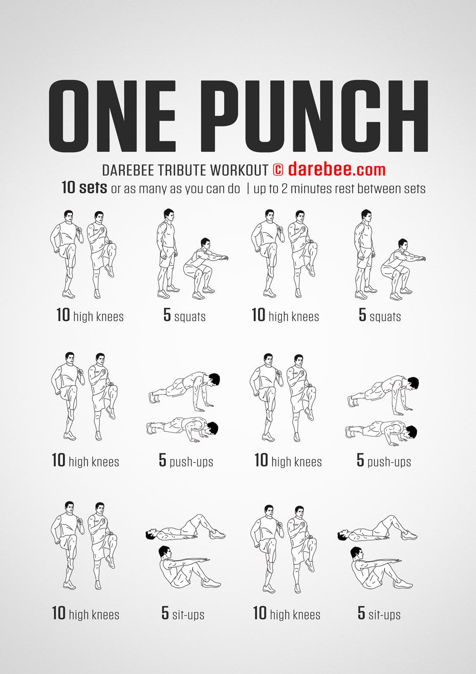 Just For Women | One punch man workout, Superhero workout ...