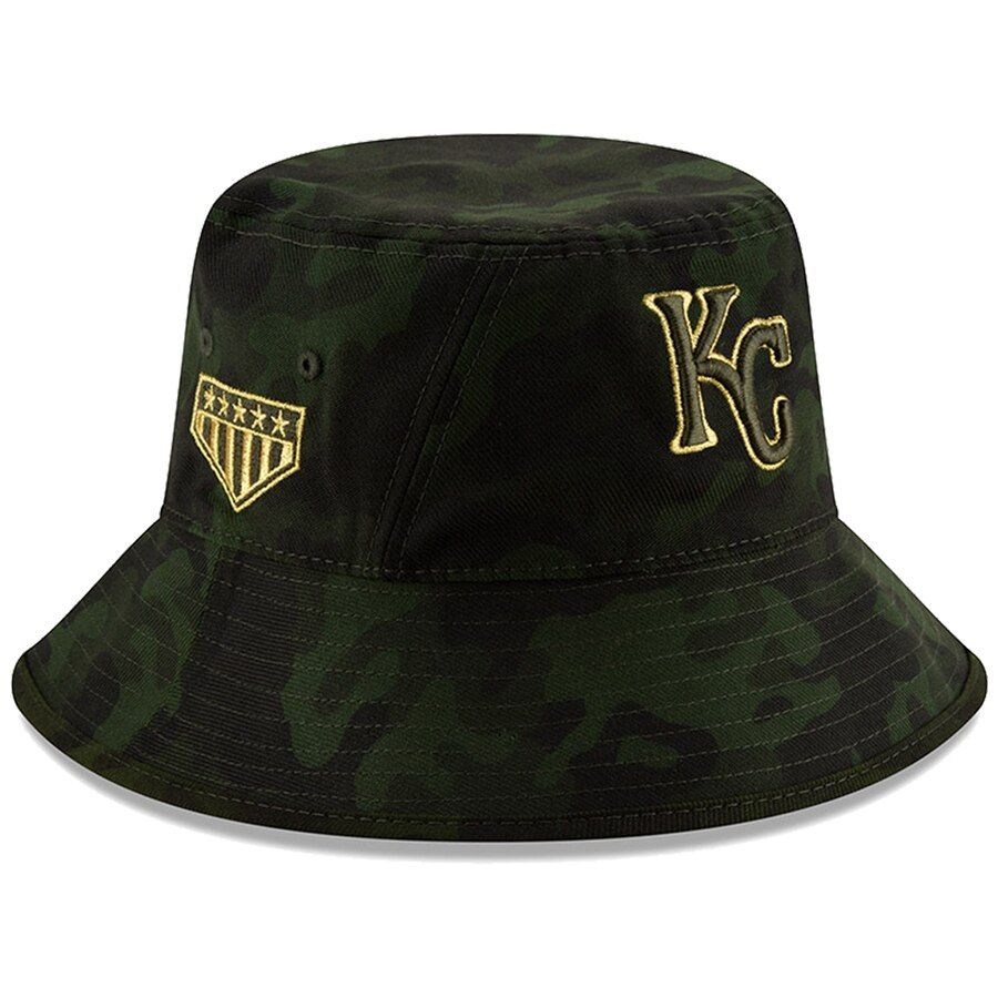 new product 62c04 52ab1 Kansas City Royals New Era 2019 MLB Armed Forces Day Bucket Hat - Camo, Your