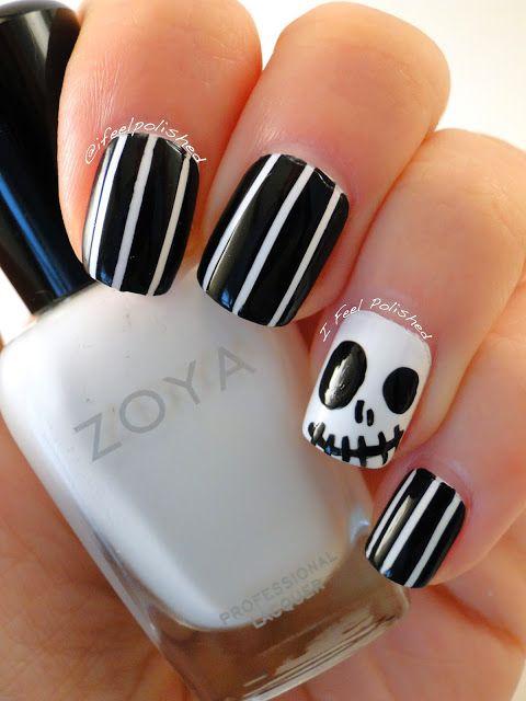 Happy Halloween! Jack Skellington Nails (I Feel Polished!) | Nail ...