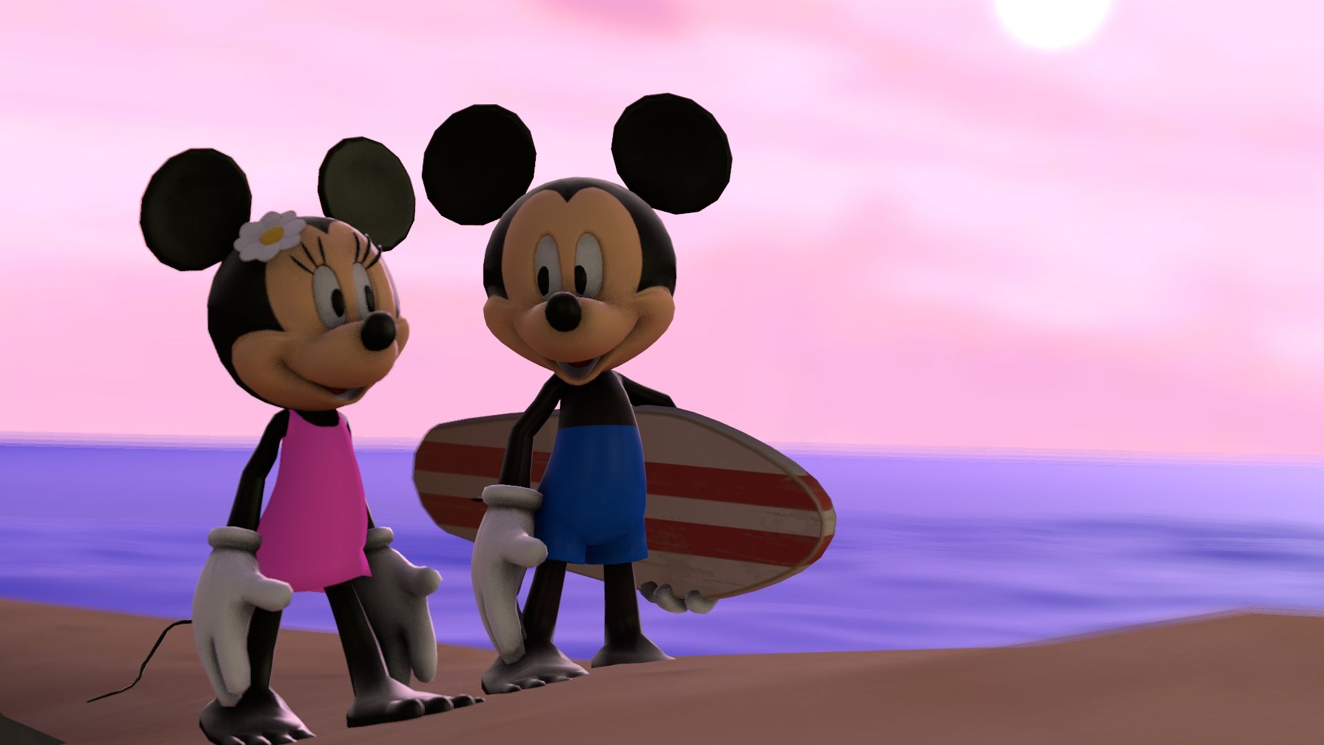 Summer Update For Mickey And Minnie Gmod Sfm By Infante2017 Mickey Mickey Mouse Wallpaper Mickey And Friends
