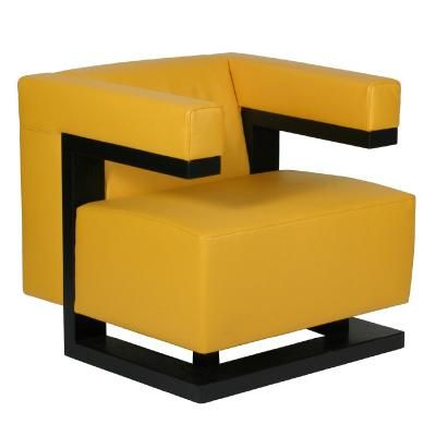 Walter Gropius F51 1920, yellow Bauhaus furniture