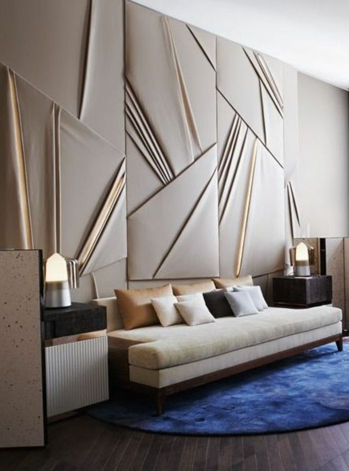 Le panneau mural 3d un luxe facile avoir design in home wall decor - Panneau mural chambre ...