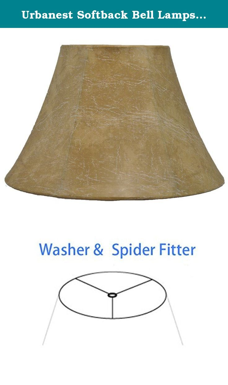 Urbanest Softback Bell Lampshade Faux Leather 12 Inch Bottom Diameter 7 5 Inch Height Spider Urbanest Classic Handmade Faux Le Lamp Lamp Shades Lamp Shade