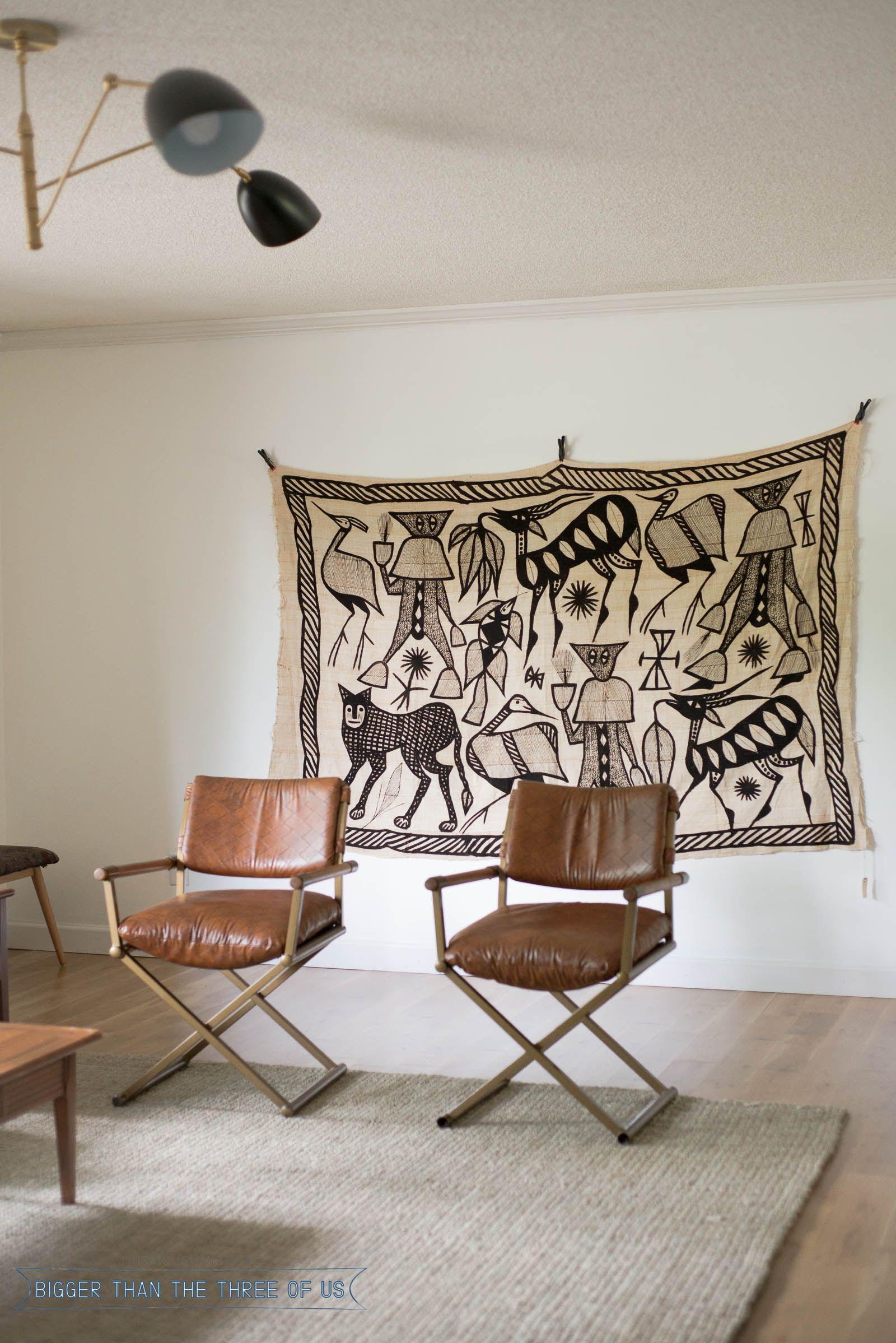 Korhogo Textile Art In Living Room