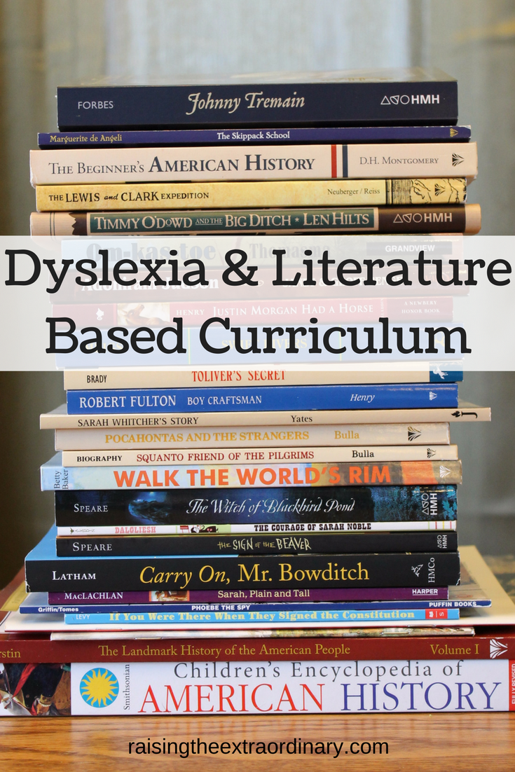Dyslexia And Literature Based Curriculum Pinterest
