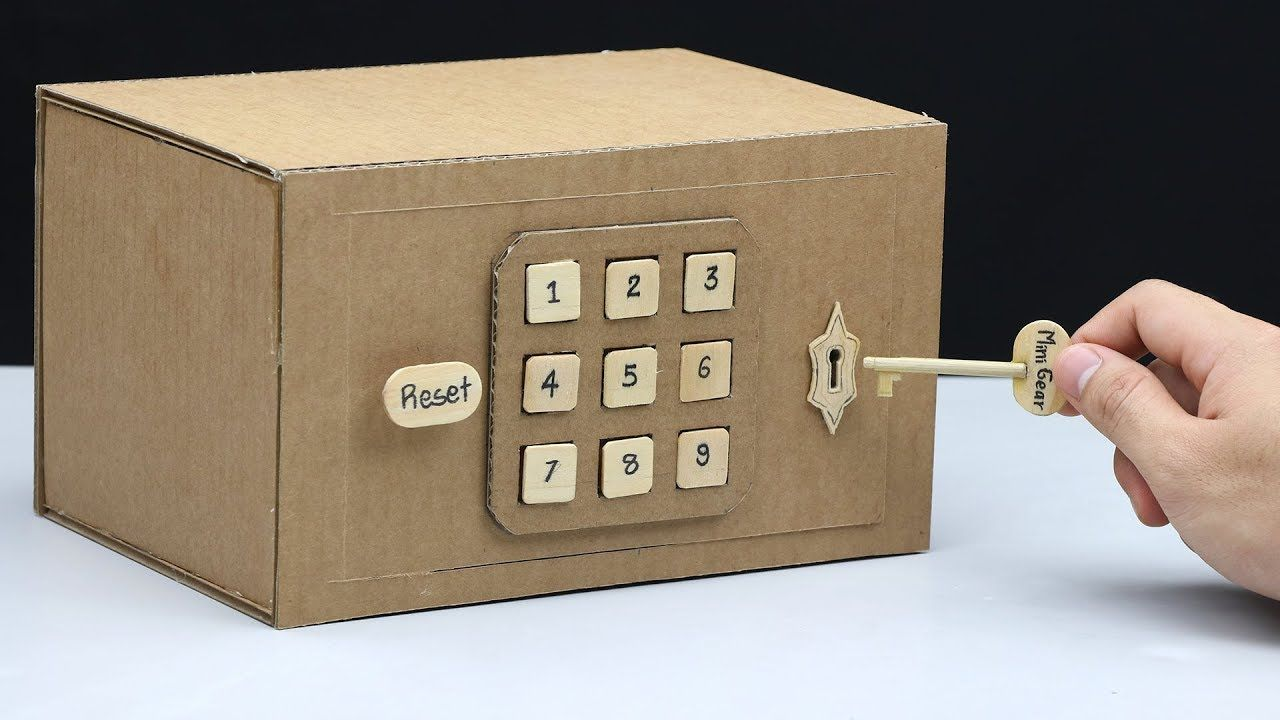 Build a Safe with Combination Number Lock and Key from