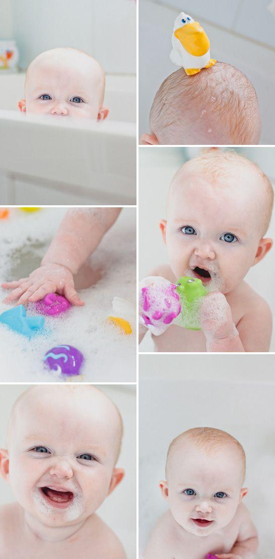 baby bathtime photos