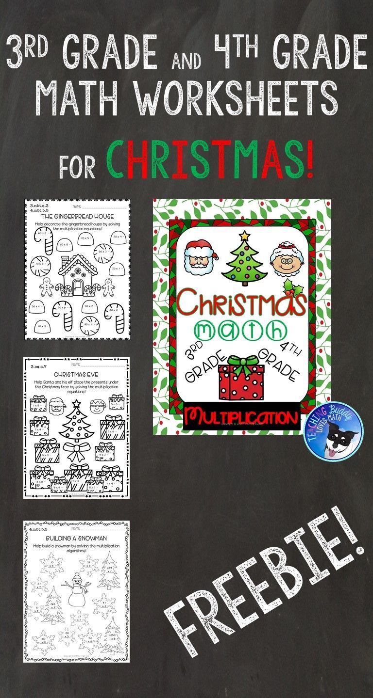 Christmas Math Worksheets Multiplication 3rd Grade 4th Grade 5th