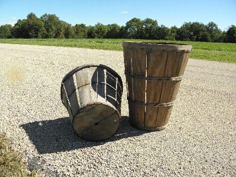small decorative baskets.htm photo of primitive vintage farm harvest baskets  old wood bottom  vintage farm harvest baskets