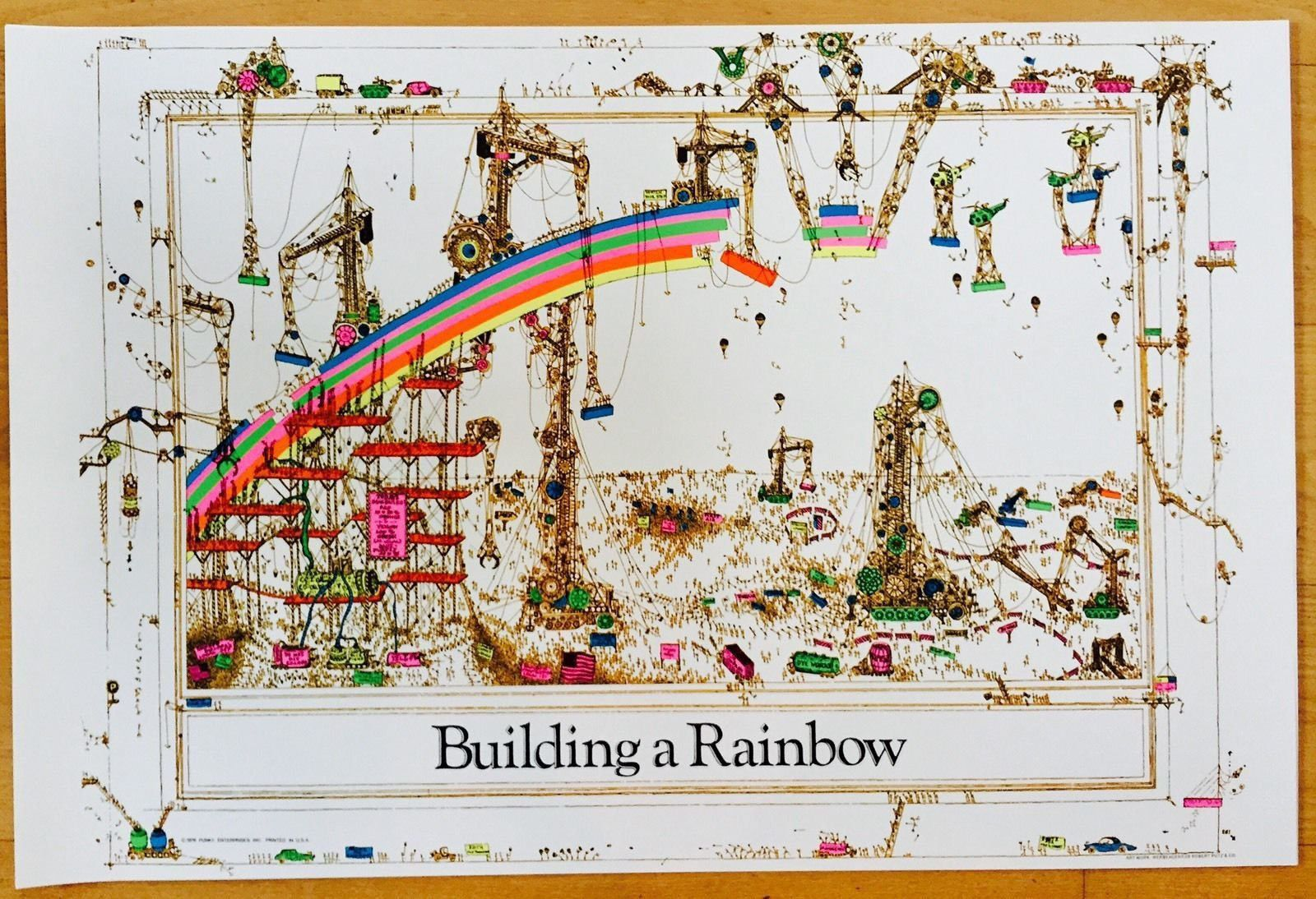 Building A Rainbow Poster 24 x 36