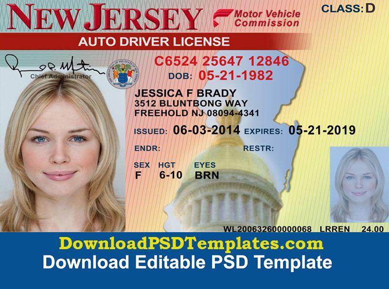 Fake Id Card Maker Online Driver License Psd Templates Download Psd Templates Drivers License Driver License Online Psd Templates