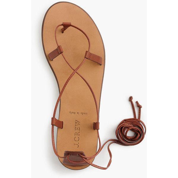 J.Crew Leather Lace-Up Sandals (185 BRL