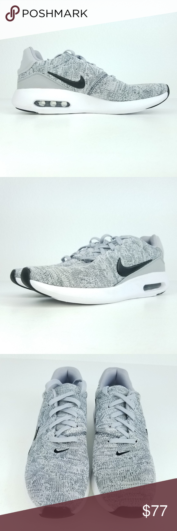 0e745343f9 NIKE Air Max Modern Flyknit Mens Shoes Grey Product Name: Air Max Modern  Flyknit Style Number: 876066 001 Size: 9.5,10.5 Color: Grey Black White  •Brand new ...